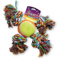 Spunkeez Rope X with TENNIS BALL.