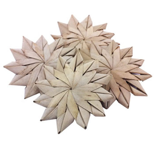 Palm Leaf FLOWERS. 3 Pack.