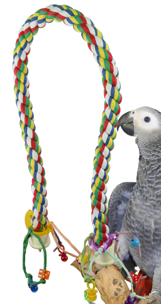 1115 Large Rope CHARM Perch Bird Toy
